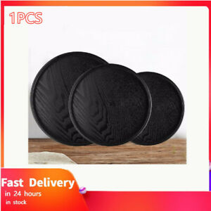 1PCS Round Solid Wooden Tea Table Tray Coffee Snack Food Meals Tea Serving Tray
