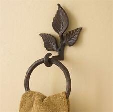 Park Designs BRANCH Leaves Nature Birch Wood Hand Towel Ring Holder BATH Cabin