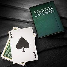 The expert at the card table-Green playing cards poker jeu de cartes