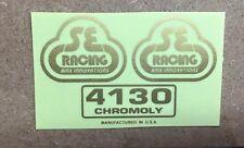 OS SE Racing BMX decal Sticker PK Ripper Quadangle frame  gold