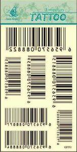 Black Bar code Pattern - Body Art Temporary Tattoo Sticker GF551