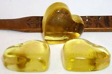 Heart Decor Nugget flat gold glass item smooth underside free-molded top 12 pcs.