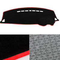 Anti-Slip Black w/ Red Edge Dash Mat Cover for 10/2007 ~ 2019 Mitsubishi Lancer