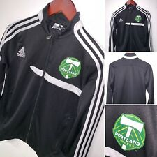 Portland Timbers Adidas Youth Track Jacket Climacool MLS Soccer Black Kids Large