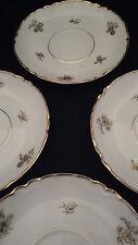 8 Sous tasses soucoupes décor floral frise doré porcelaine Haviland 13,5 cm Ø
