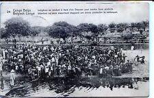 CP Congo Belge - Indigènes se rendant à bord d'un Steamer pour vendre leurs...