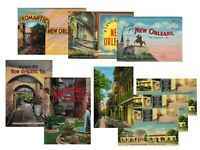 LOT of 9 New Orleans Louisiana VINTAGE POSTCARDS & POSTCARD BOOKS