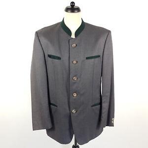 Lodenfrey Janker Herren Gr. 50 Grau Grün Wolle Trachtenjacke Jacke