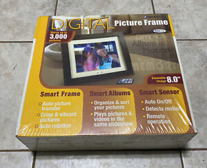 "Smartparts SPX8 8"" Digital Picture Frame New Sealed Stores Up To 3000 Pictures"