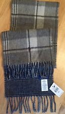 Genuine Ralph Lauren Mens Grey Check Reversible Wool Scarf One Size BNWT