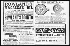 1899 Antique Print - ADVERTISING Sir John Bennet Rowlands Savory Moore     (34)