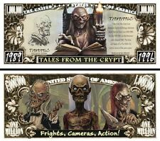 Tales From the Crypt Million Dollar Bill Funny Money Novelty Note + FREE SLEEVE