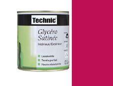 PEINTURE LAQUE GLYCERO TECHNIC SATIN  0.5 L FRAMBOISE ROUGE lessivable