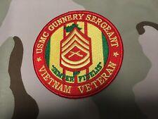 USMC GUNNERY SERGEANT VIETNAM VETERAN 4 INCH DIAMETER PATCH