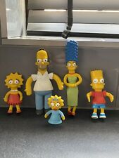 THE SIMPSONS Homer Marge Bart Lisa Maggie Bendable Figures  2002