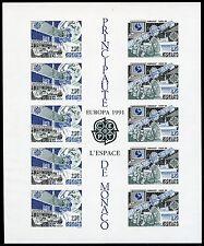 Raumfahrt Space 1991 Monaco CEPT Europa Eutelsat Block 50 U Imperf **/622