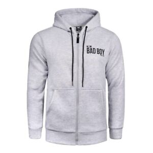 Bad Boy Crossover Hoodie Grey Size Small