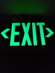 Jessup 7092-B Glo Brite Photoluminescent Double Sided Exit Sign 100 ft. Vis.