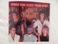 """Night Ranger """"When You Close Your Eyes"""" PICTURE SLEEVE! NEW! NICEST COPY ON eBAY"""