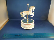 "Mirrored Spinning Carousel Horse ""The Carousel Waltz"" Music Box"