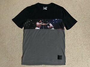 RARE! Men's Under Armour MUHAMMAD ALI Lights Out Tee black gray SMALL t-shirt
