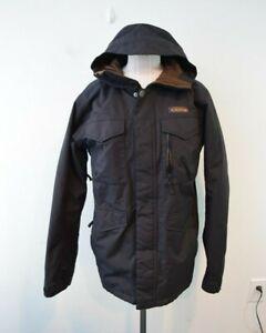 Burton Dry Ride Dhaka Snowboarding Jacket Size XS DryRide Long Coat Black Hood