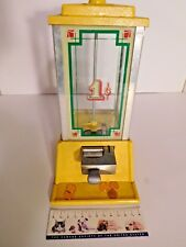 Vintage Dean Penny ARCD Beverly Hills, CA 1 cent Gumball Machine ~ Bright Yellow