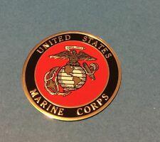 USMC UNITED STATES MARINE CORPS EMBLEM  2' INCH LITHO INSERT ADHESIVE BACK SHIP