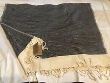 Smyrna Turkish Cotton Black And Tan Beach Towel