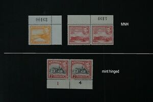 Cyprus two VF MNH + one mint hinged 1938 KGVI with plate # (v191)