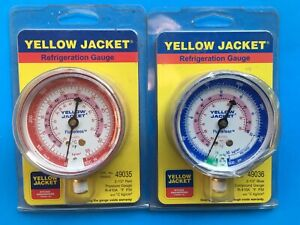 2x Yelpw Jacket 410A Refrigeration Replacement Steel Red And Blue Gauges Hvac