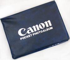 Vtg Collectible CANON POCKET PHOTO Album Blue Vinyl Hold 26 Photos NEW in Sleeve