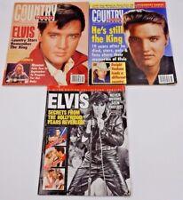SET OF 3 ELVIS MAGAZINES ~ REMEMBERING ELVIS 2002 & COUNTRY WEEKLY 1994/1996
