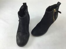 Steve Madden Wantagh Black Leather Ankle Boot Size 7M  H1035/