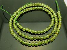 "Natural Green Peridot Smooth Round 3.5mm Gemstone Bead 16"" Strand"