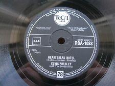 ELVIS PRESLEY 78 RPM HEARTBREAK HOTEL / ALL SHOOK UP 1958 UK RCA 1088