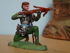 BRITAINS SWOPPET KNIGHT, CROSSBOWMAN KNEELING, Toy Soldiers, REPAINT