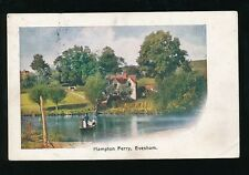 Worcestershire Worcs EVESHAM Hampton Ferry Used 1918 PPC