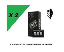 OCB noir courte double prémium 2 box de 25 carnets petite feuilles