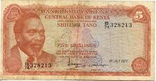 KENYA 5 SHILLINGS 1977 état voir scan