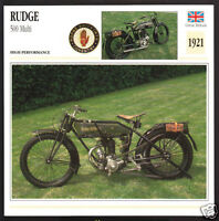1930 Rudge 500cc Works Racer Wal Handley Motorcycle Photo Spec Sheet Info Card
