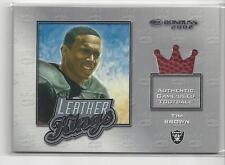 Tim Brown 2002 Donruss NFL Football Leather Kings Game Ball Card # 111/250