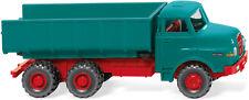 Wiking 064502-H0 1:87 - Carro de basura (Man) - Azul Agua / rojo -