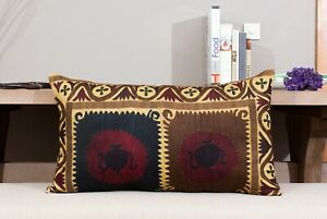 """15.75"""" x 27.95"""" Pillow Cover Suzani Pillow VINTAGE Fast Shipment With UPS 11707"""