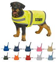 SECURITY PERSONALISED YELLOW BLUE HI VIS VESTS WAISTCOATS STAFF DOG HANDLER