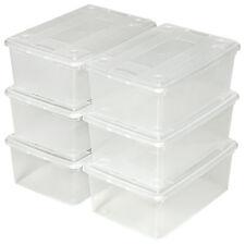 6x Boîte transparente à chaussure avec couvercle rangement empilable stockage