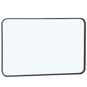 "Black 24"" x 36"" Rectangular Wall Mirror For Bathroom Bedroom Livingroom"