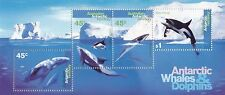 Stamps AAT Antarctic Whales & Dolphins mini sheet MUH