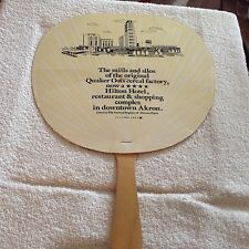 Hand fan from the mills & silos original factory in Akron Ohio