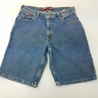 Tommy Hilfiger Mens Vintage DENIM SHORTS W33 L11 Blue Relaxed Loose High Rise